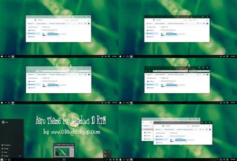 theme windows 10 aero aero theme for windows 10 rtm windows10 themes i cleodesktop