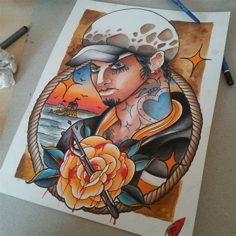 one piece tattoo straw hat 35 awesome one piece tattoos for the straw hat pirates