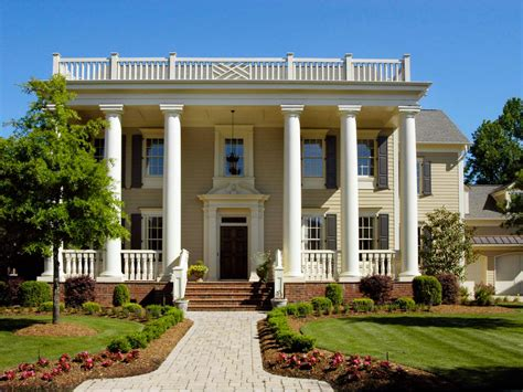 Two Story Colonial House Plans by Greek Revival Architecture Hgtv