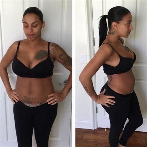 c section scar after 1 week ne yo s wife crystal renay proudly displays c section