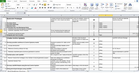work breakdown structure excel template work breakdown structure excel www imgkid the