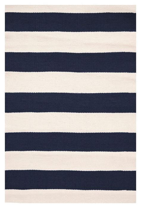 Navy Stripe Outdoor Rug Catamaran Stripe Indoor Outdoor Rug Navy Ivory Outdoor Rugs By Boogey