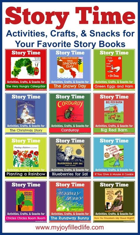picture story books for preschoolers story time activities crafts snacks for your