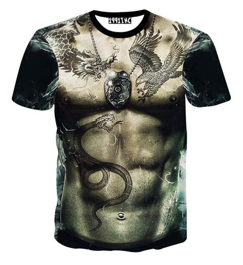 3d Printed T Shirts For Mens by 2015 Summer New Fashion Clothing Snake Print 3d T Shirts Crop Tops Casual