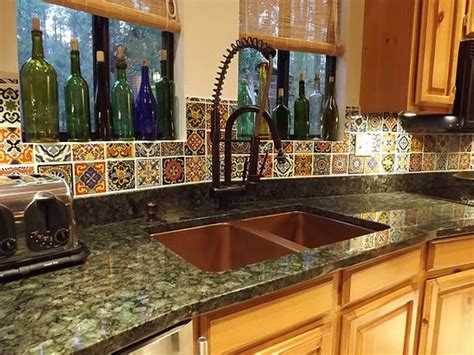 spanish tile backsplash best choice for creating mexican
