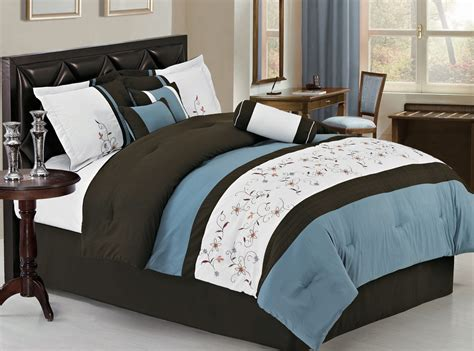 blue comforter set blue and brown bedspreads not comforters pictures to pin