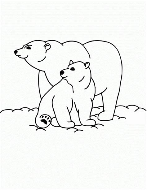 simple bear coloring pages get this simple polar bear coloring pages to print for