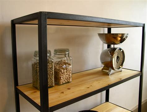 industrial style shelving unit