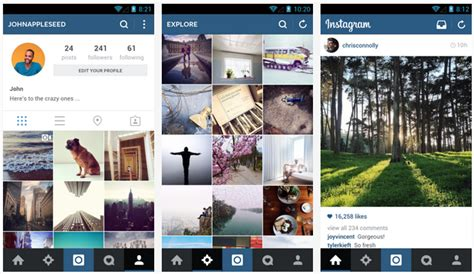 layout for instagram on pc instagram updates to look less quot ios ish quot brings a flat