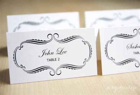 instant download computer printable escort cards