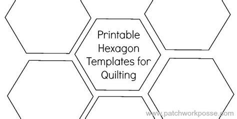 printable hexagon template for quilting hexagons
