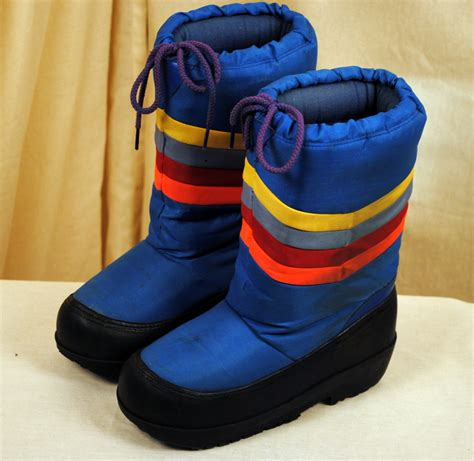 moon boots for vintage 80s rainbow moon boots size 7 8 by rogueretro on etsy