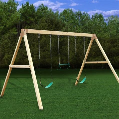 homemade swing sets wood idea diy wooden swing set plans free pdf plans