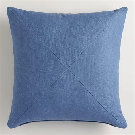 blue herringbone throw pillow world market