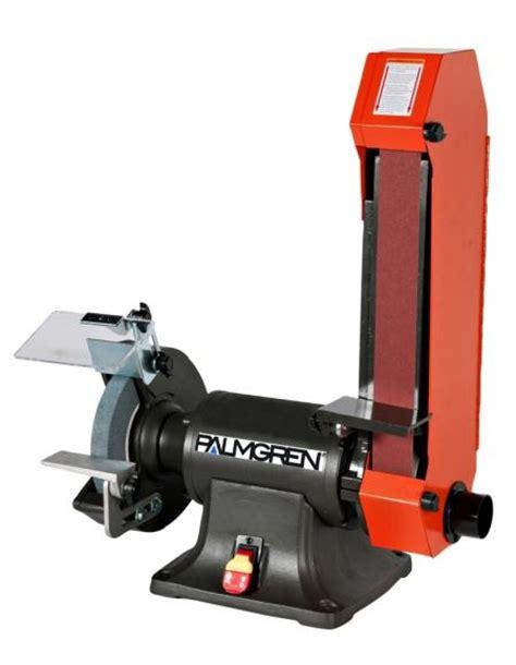 palmgren bench grinder palmgren 9682088 combination bench belt grinder