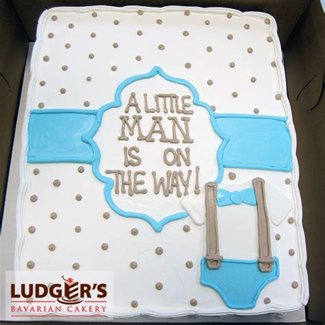 Baby Shower Sheet Cakes For Boy by Baby Shower Cake For A Boy With Blue Bow Tie And