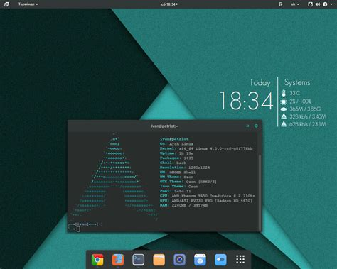 gnome themes arch linux gnome 3 16 on archlinux by localizator on deviantart