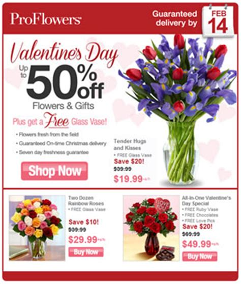 » proflowers – special discount for valentines day 2013