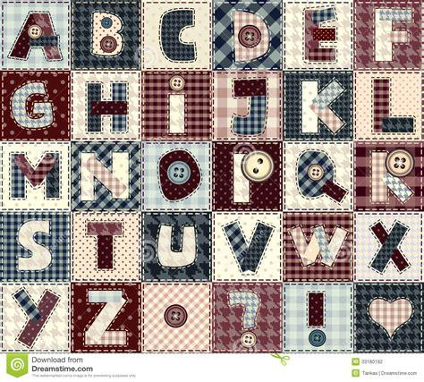 Patchwork Style - alphabet abc stock photography image 33180192