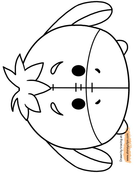 minnie mouse tsum tsum coloring page disney tsum tsum printable coloring pages disney