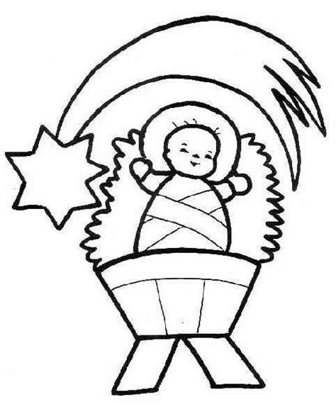 dibujos de navidad para colorear facil dibujo colorear navidad ni 241 o jesus