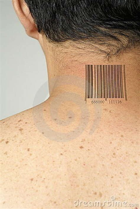 barcode tattoo book free download barcode on asian neck stock images image 8617944