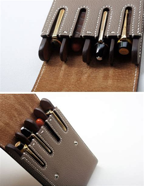 Handmade Leather Pen - 17 best ideas about pen on pencil cases