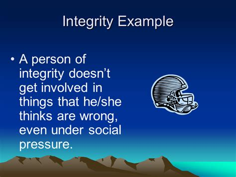 exle of integrity character education trustworthiness presentation