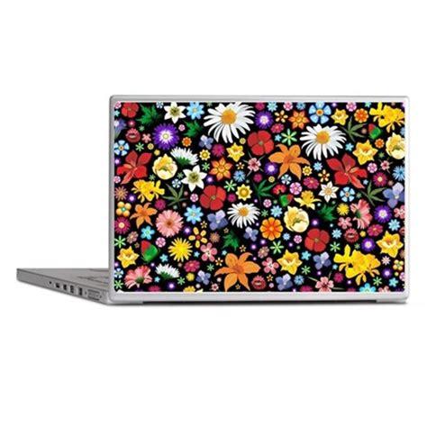 Hardcase Custom Hp Flower Themes flowers pattern laptop skins by bluedarkartgifts
