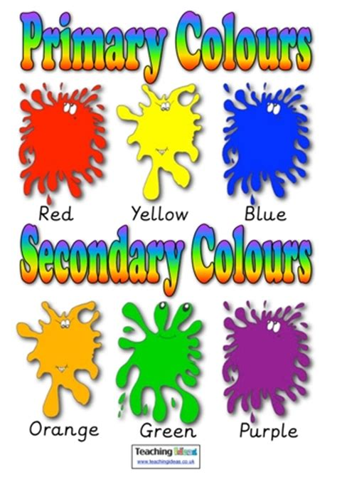 primary and secondary colours | teaching ideas