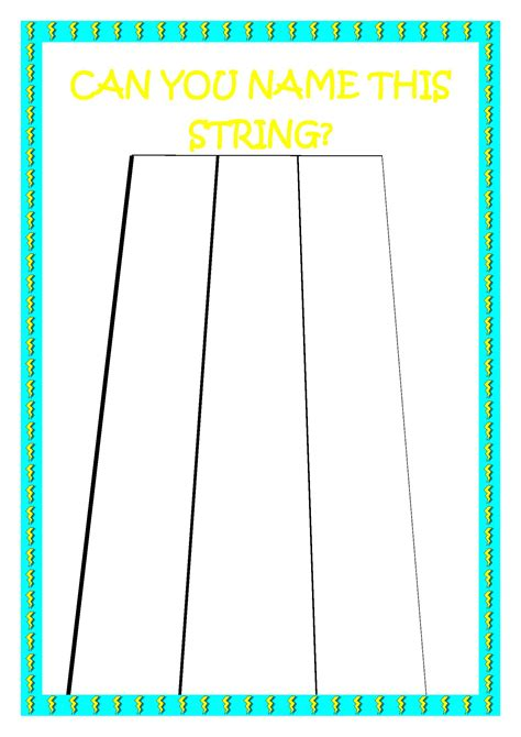 String Names - violin for open strings beginner denley