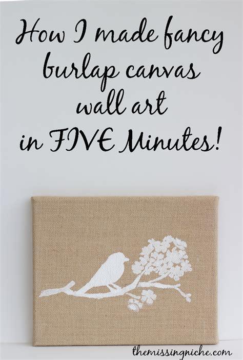 Burlap Canvas Wall