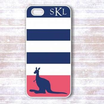 Iphone 4 4s Adidas Square Stripe Hardcase iphone 4 4s navy blue and pink striped kangaroo personalized iphone cover iphone cases on