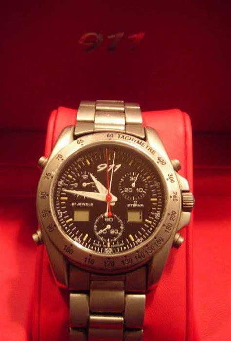 who makes porsche watches porsche 911 quartz chronograph by eterna wap070 009 97