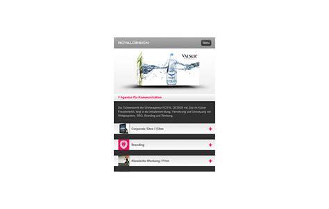 mobile site royal design mobile site the fwa