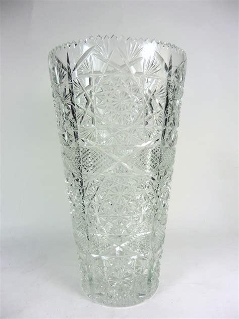 vintage lead vase cut glass artist signed ebay