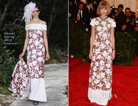 Who Wore Chanel Couture Better Wintour Or by Wintour In Chanel Couture 2013 Met Gala