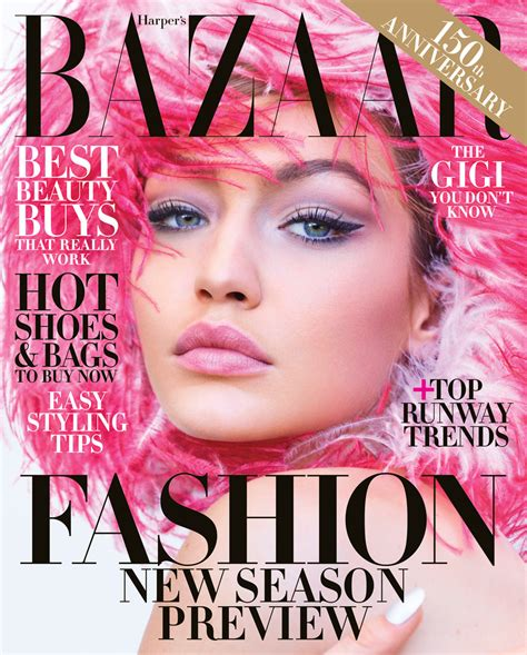 In Harpers Bazaar by Gigi Hadid Covers The June July 2018 Issue Of S