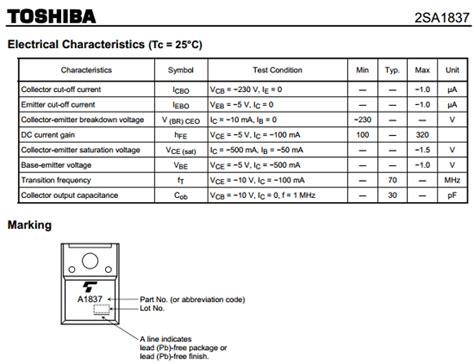 2sa1837 A1837 2sa1837 datasheet pdf datasheetbank