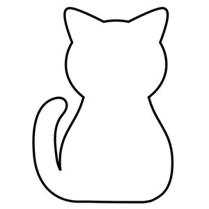 black cat template printable бесплатно аппликация картины кошки аппликация