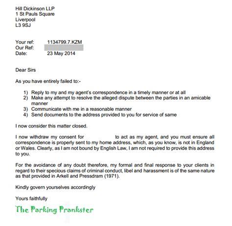 Dvla Appeal Letter Template Parking Prankster May 2014
