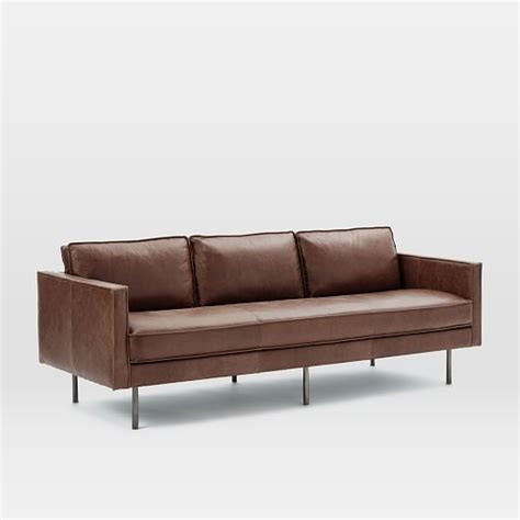 west elm axel leather sofa axel leather sofa 89 quot west elm