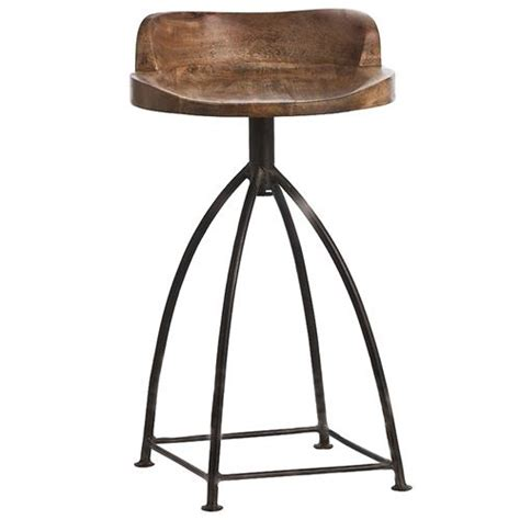 Industrial Swivel Counter Stool by Missoula Industrial Loft Antique Wood Iron Swivel Counter
