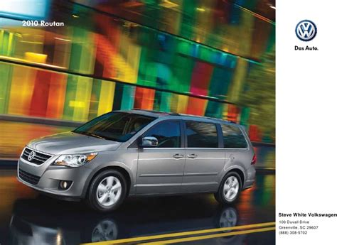 2010 volkswagen routan brochure greenville columbia sc