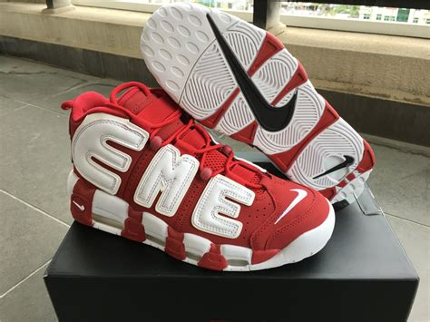 Sepatu Nike Supreme supreme x nike air more uptempo varsity white for sale nike kd 10 sale