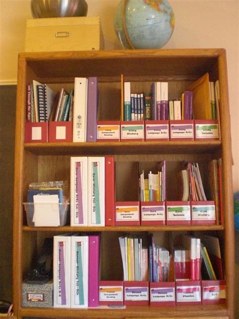 bookcase homeschool organization for the home