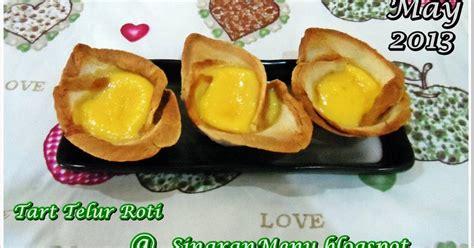 membuat roti tart sinaranmenu tart telur roti