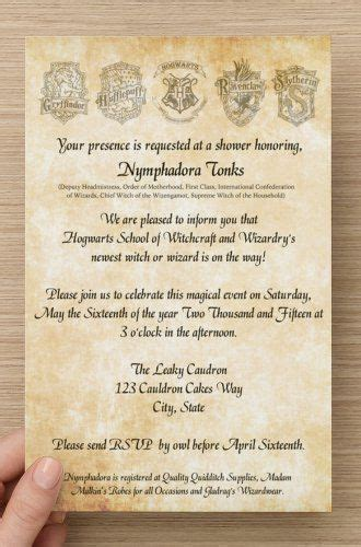 Harry Potter Baby Shower Invitations Theruntime Com Harry Potter Baby Shower Invitation Template Free