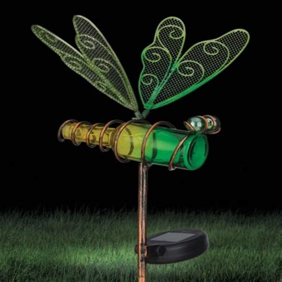 Solar Powered Dragonfly Garden Stake Solar Powered Dragonfly Lights