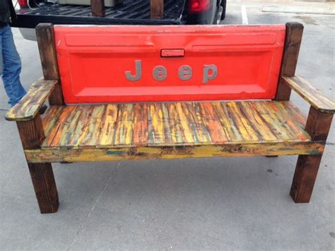 tailgate bench diy tailgate bench jeep heck yeah i did that pinterest